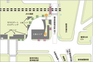 JR大阪駅のバス停