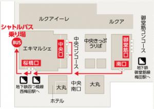 JR大阪駅のマップ