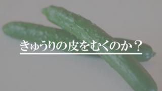 Cucumber hide