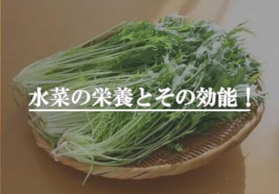 水菜の栄養とその効能